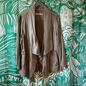 NWOT Max Jeans PLUS SIZE Drape Front Jacket 1X